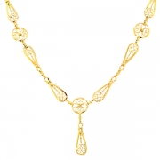 Collier maille filigrane en or jaune 11.77grs